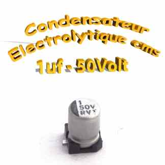 Condensateur électrolytique CMS - SMD 1uF 50v