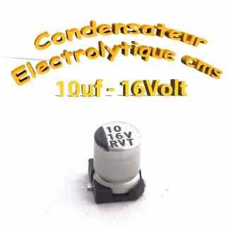 Condensateur électrolytique CMS - SMD 10uF 16V