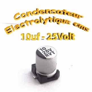 Condensateur électrolytique CMS - SMD 10uF 25V