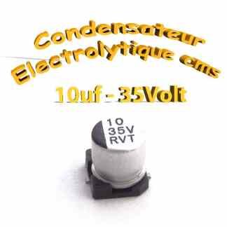 Condensateur électrolytique CMS - SMD 10uF 35V