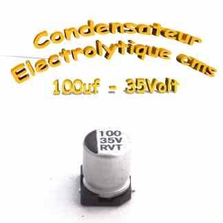 Condensateur électrolytique CMS - SMD 100uF 35v