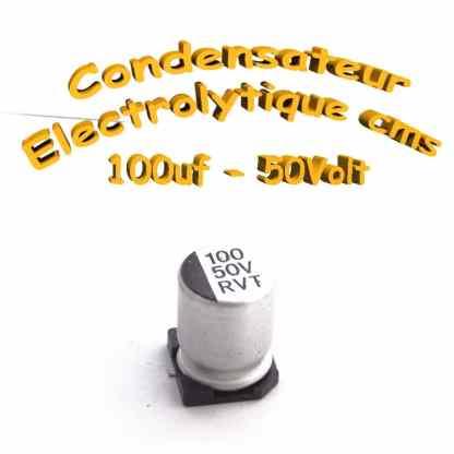 Condensateur électrolytique CMS - SMD 100uF 50v