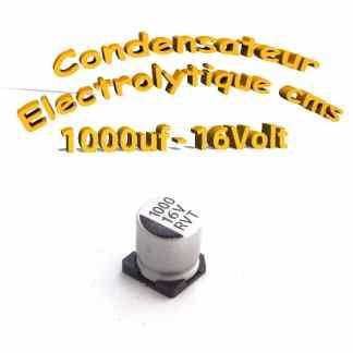 Condensateur électrolytique CMS - SMD 1000uF 16v