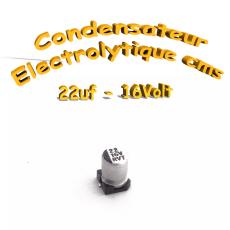 Condensateur électrolytique CMS - SMD 22uF 16V