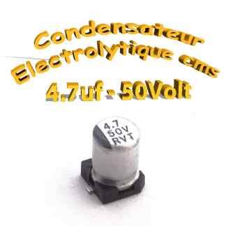 Condensateur électrolytique CMS - SMD 4.7uF 50V