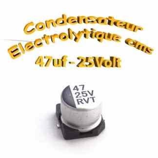 Condensateur électrolytique CMS - SMD 47uF 25V
