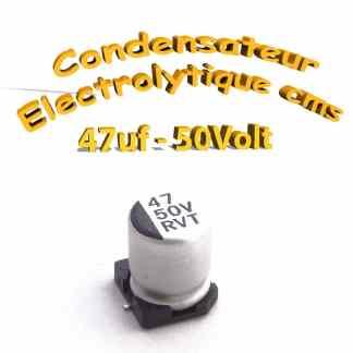 Condensateur électrolytique CMS - SMD 47uF 50V