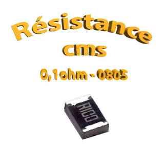 Resistance cms 0805 0.1ohm 1% 1/8w
