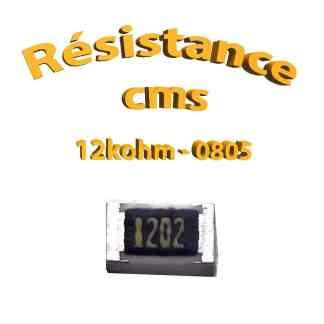 Résistance cms 0805 12kohm 1% 1/8w