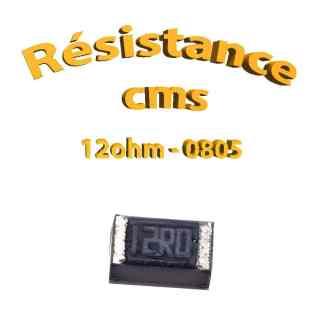 Résistance cms 0805 12ohm 1% 1/8w