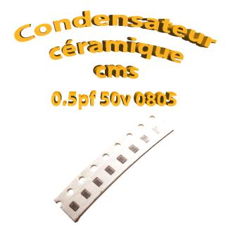 Condensateur ceramique 0,5pf - 50v -10 % - 0805