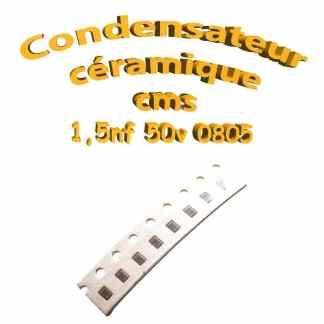 Condensateur ceramique 1.5pf - 50v -10 % - 0805