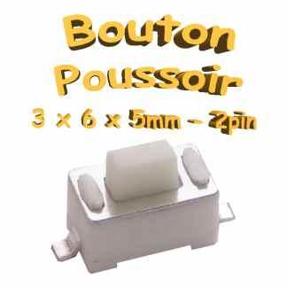 Bouton Poussoir 3x6x5mm - 2pin - à souder pour CI