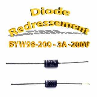 BYW98-200 - Diode redressement - 3A - 200V - 110A