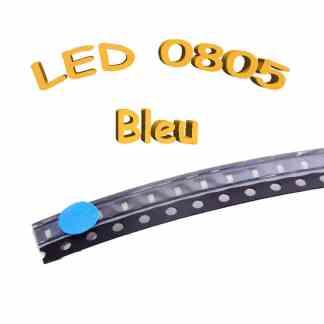 LED 0805 bleu - 3V-3.2V - 5mA - CMS/SMD