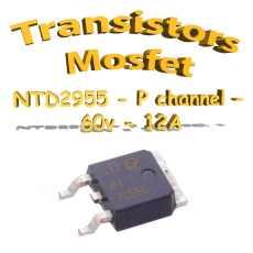 NTD2955 - Transistors mosfet channel P- 60v - 12A - D2P- 55W