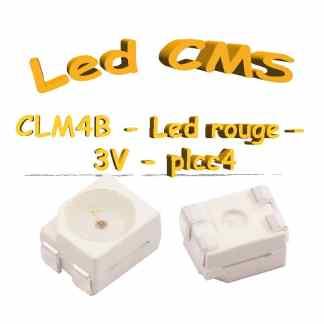 LED Cree Rouge CLM4B - 2.4v à 3V - 70mA - plcc4