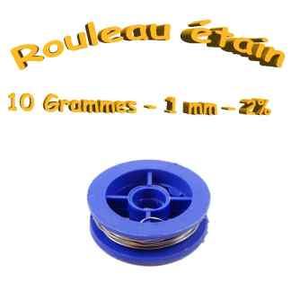 Rouleau étain 2% - 10 grammes - diamètre 1mm