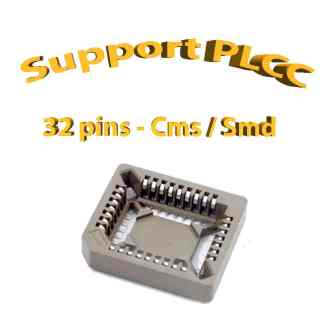 Support PLCC32 - 1A - 260° - Cms / Smd