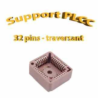 Support PLCC32 - 1A - 260° - traversant