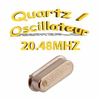 Oscillateur / Quartz 20.48Mhz - HC-49s