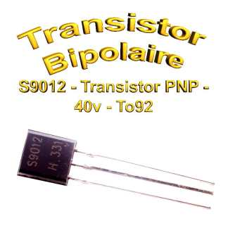 S9012- Transistor PNP - 40v - 0,5A - To92