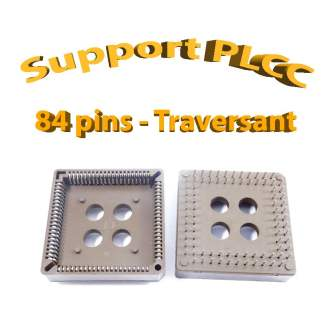 Support PLCC84 - 1A - 260° - traversant