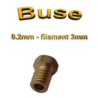 Buse E3D 0.2mm 3mm - laiton - M6 - (compatible)