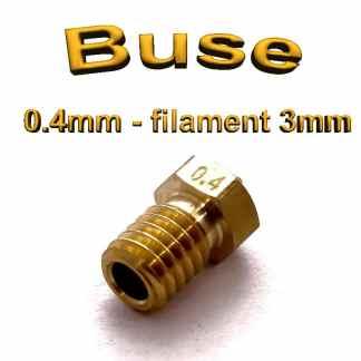 Buse E3D 0.4mm 3mm - laiton - M6 - (compatible)