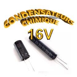 Condensateur Chimique / Condensateur Électrolytique 16V