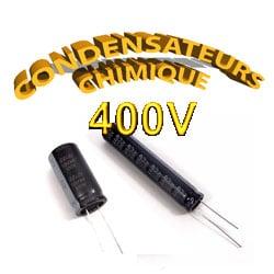 Condensateur Chimique / Condensateur Électrolytique 400V