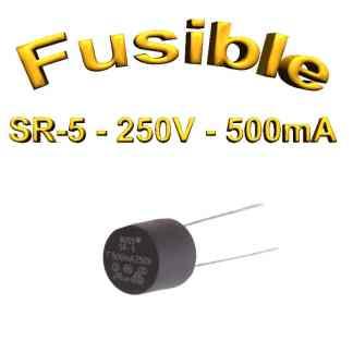 Fusible Temporisé Radial 500mA 250v buss sr5 - 5,08mm