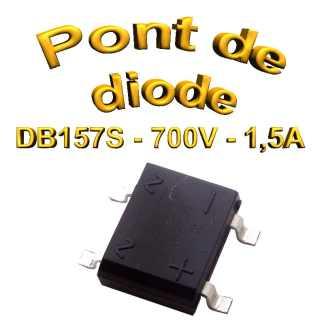 DB157S - Pont de diodes 1,5A -700V - CMS/SMD