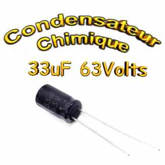 Condensateur chimique 33uF - 63V - 6,3x11mm - 20%