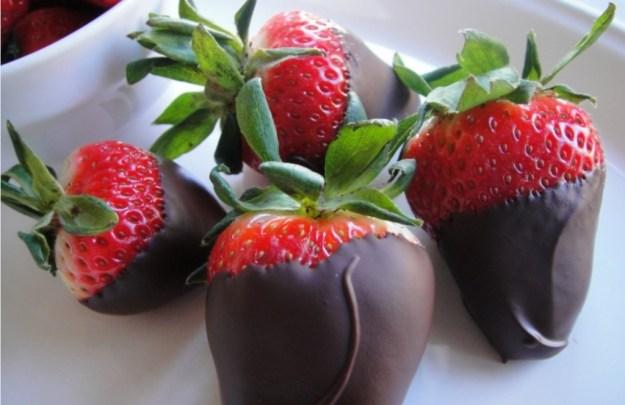 Aardbei chocolade