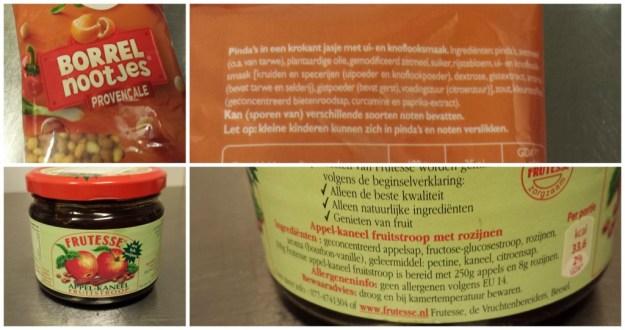 Borrelnootjes, appelstroop