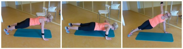 Push up plank