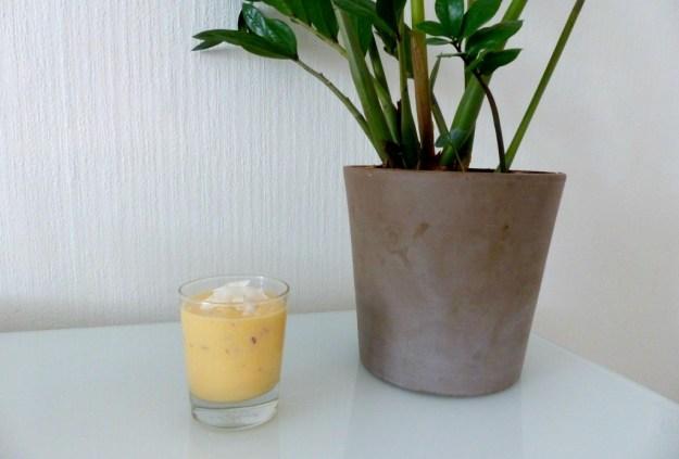 Smoothie nectarine kokos