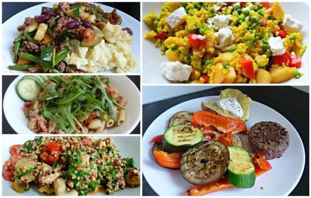 Collage snelle maaltijden
