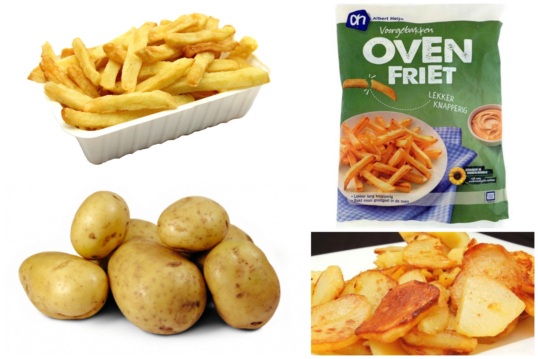 patat bakken van aardappels