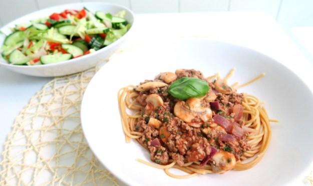 Gezonde pasta bolognese