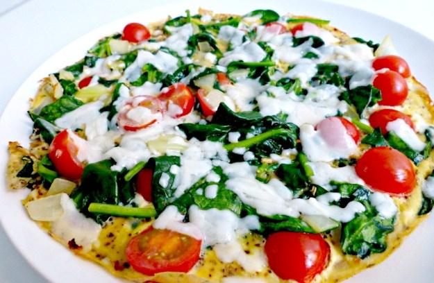 Omelet spinazie tomaat kaas