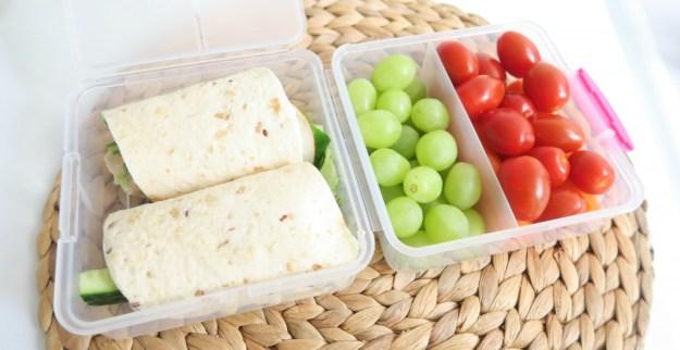 Wrap met fruit en groenten