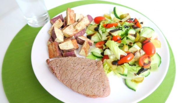 Recept biefstuk zoete aardappel sla