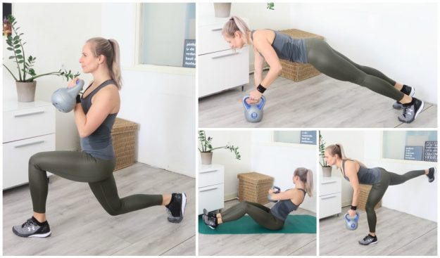 Kettlebell oefeningen - Workout voor thuis