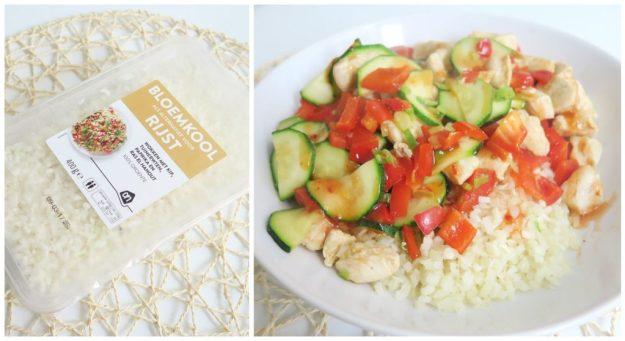 Recept bloemkoolrijst met kip en groenten2