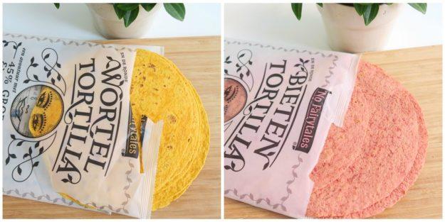 bieten en wortel tortillas