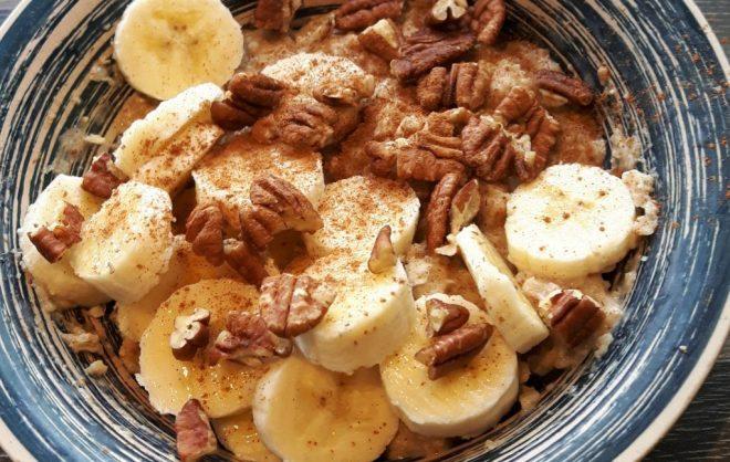 Kwark banaan noten