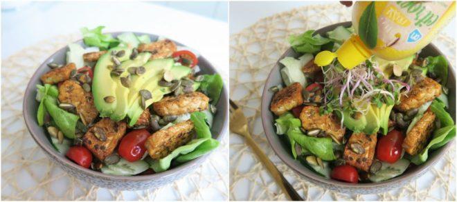 Vegan salade tempeh