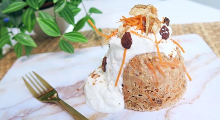 Gezonde carrot cake mug cake